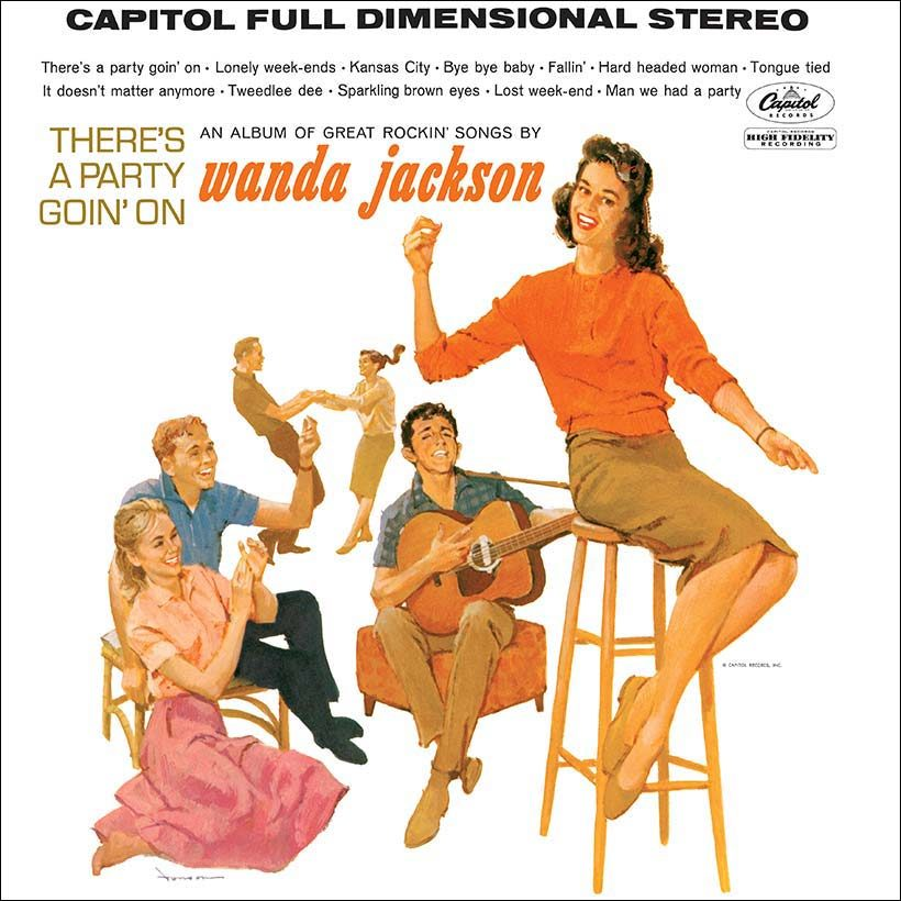 Wanda Jackson Theres A Party Goin On Album Cover 820 with border