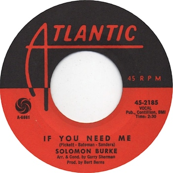Solomon Burke If You Need Me