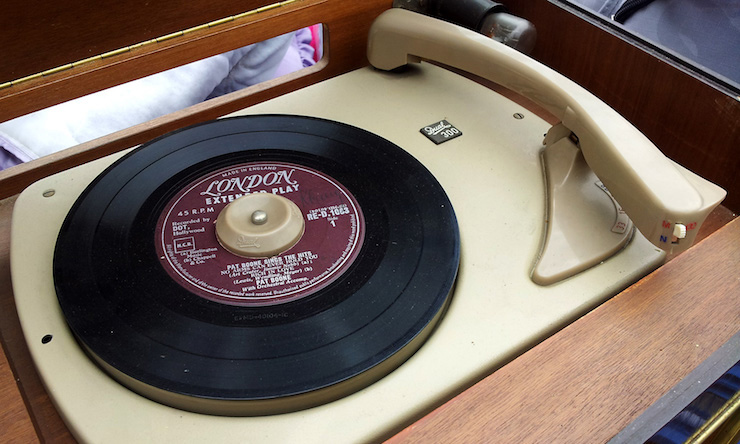 45s single turntable