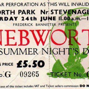 Genesis Knebworth Ticket