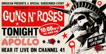 Guns N' Roses Set To Perform Private SiriusXM Concert At New York's Apollo Theater