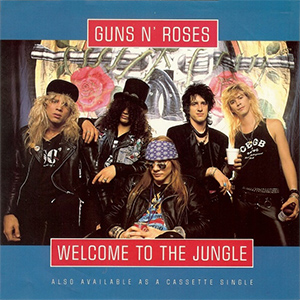 Guns N Roses Welcome To The Jungle Single Sleeve