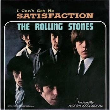 Satisfaction Rolling Stones black