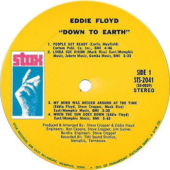 Eddie Floyd Down To Earth Record Label