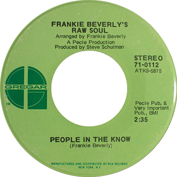 Frankie Beverly Raw Soul People In The Know