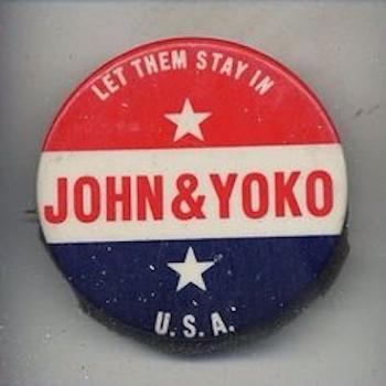 John & Yoko badge