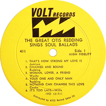 The Great Otis Redding Sings Soul Ballads Record Label, Stax 60