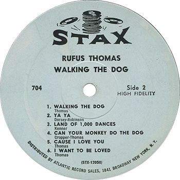 Rufus Thomas Walking The Dog Record Label