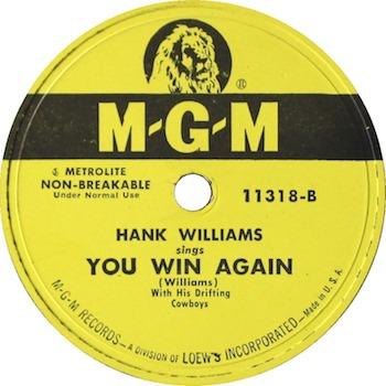 Hank Williams You Win Again