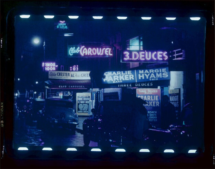 "52nd Street in Manhattan, the ""home of jazz"" in the 40s and 50s William Gottlieb"
