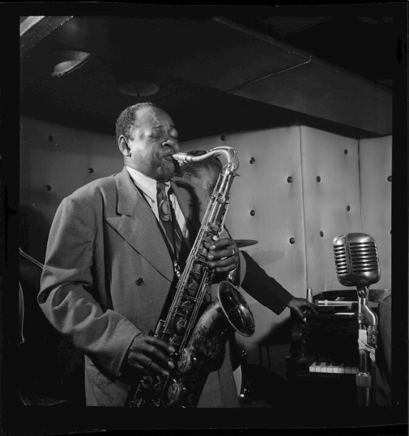 Coleman Hawkins and Miles Davis, William Gottlieb