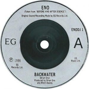 Brian Eno Backwater Single Label