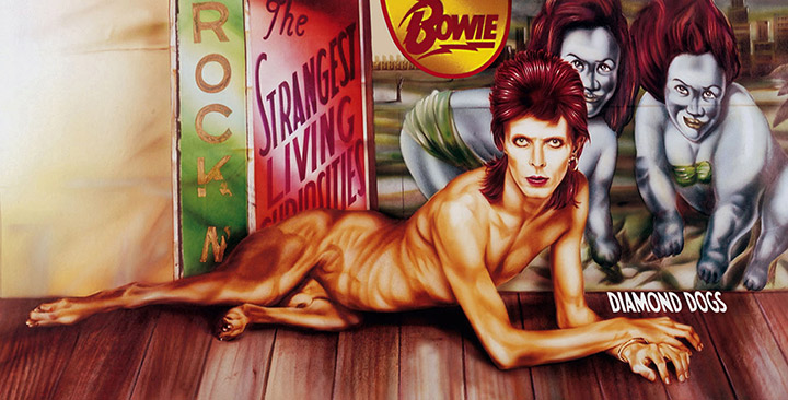 David Bowie Diamond Dogs Album Cover Gatefold