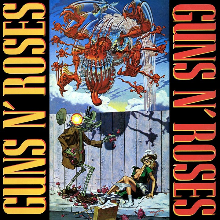 Guns N Roses Appetite For Destruction Original Album Cover