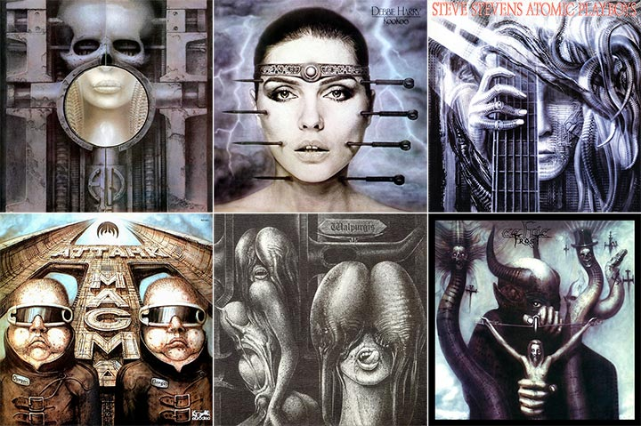 HR Giger Album Cover Montage