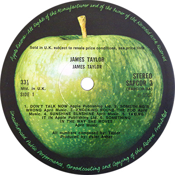 James Taylor debut album record label