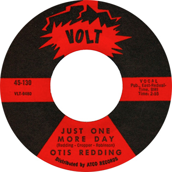 Otis Redding Just One More Day Single Label