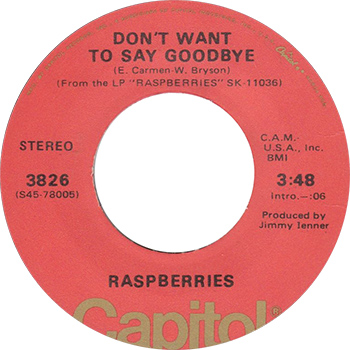 Raspberries Don't Want To Say Goodbye Single Label web 350