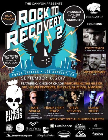 Guns N'Roses, Stone Temple Pilots Stars To Honour MC5's Wayne Kramer At Rock To Recovery Benefit Concert