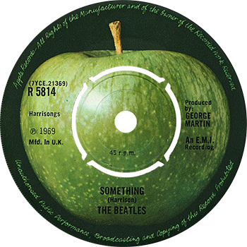 The Beatles Something Single Label