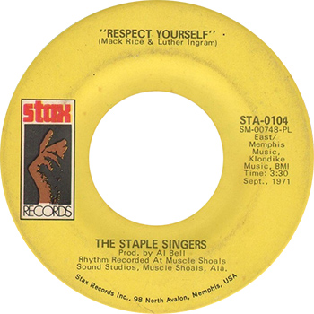 The Staple Singers Respect Yourself single label