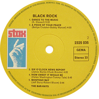 Bar Kays Black Rock Record Label Side Two Web 350