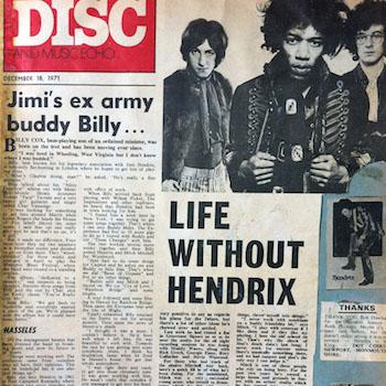 Disc cutting Jimi Hendrix