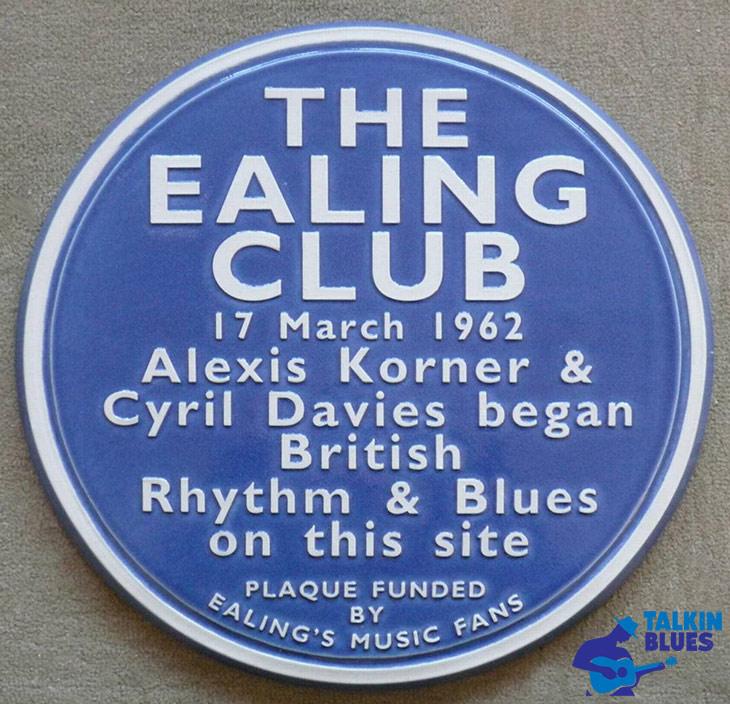 Ealing Club Blue Plaque With Talkin Blues Logo
