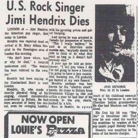 Hendrix newspaper