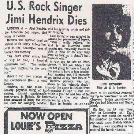Hendrix newspaper