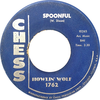 Howlin Wolf Spoonful Single Label