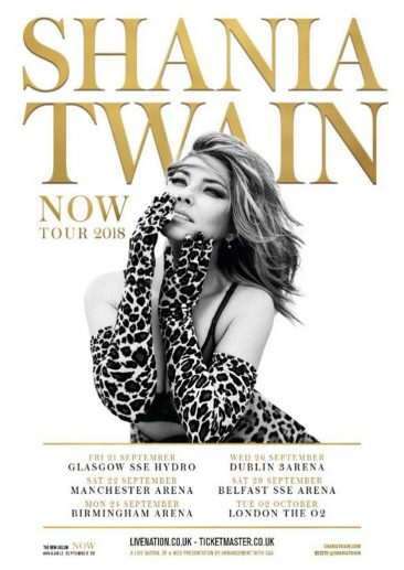 Shania Twain Announces Autumn 2018 UK And Irish Tour Dates