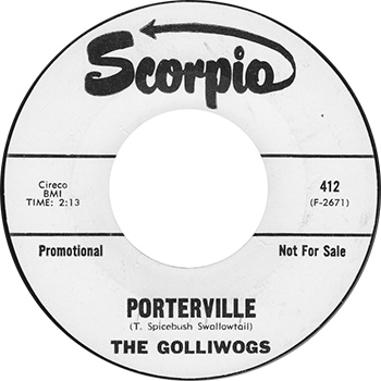 The Golliwogs Porterville Single Label