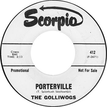 The Golliwogs Porterville Single Label
