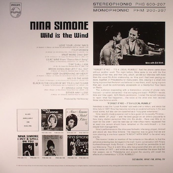 Wild Is The Wind back cover Nina Simone