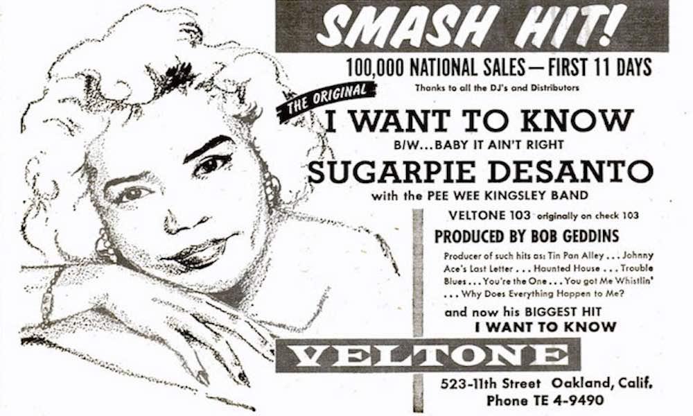Sugar Pie DeSanto Starts Her Soulful Mission