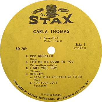 Carla Thomas Carla Record Label web 350
