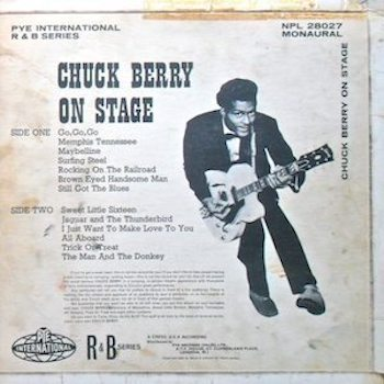 Chuck Berry On Stage back
