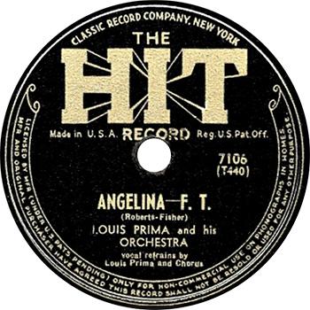 Louis Prima Angelina Single Label web 350