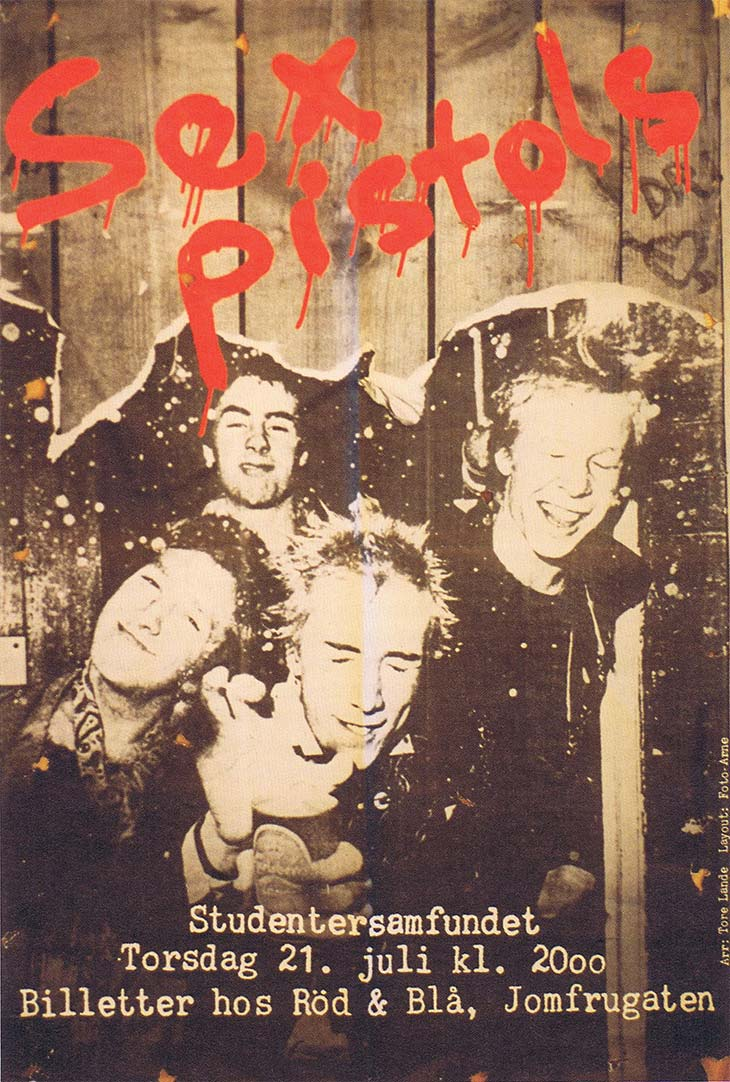 Sex Pistols Artwork Trondheim Flyer