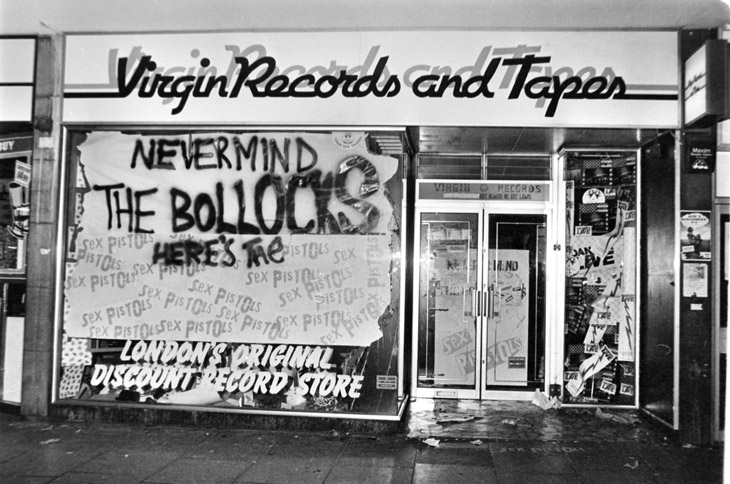 Virgin Records Sex Pistols Never Mind Storefront