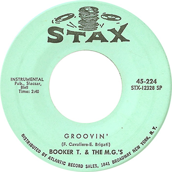 Booker T And The MGs Groovin Single Label