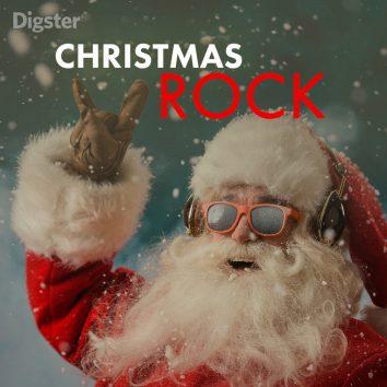 best rock Christmas songs playlist art