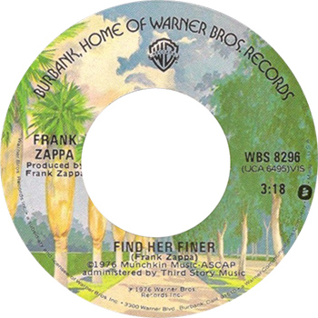 Frank Zappa Find Her Finer Single Label web 350