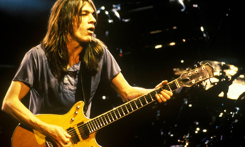Malcolm Young photo by Bob King and Redferns