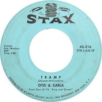 Otis Redding And Carla Thomas Tramp Single Label web 350
