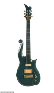 Blue Teal Cloud Guitar