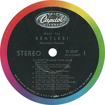 The Beatles Meet The Beatles Record Label web 350