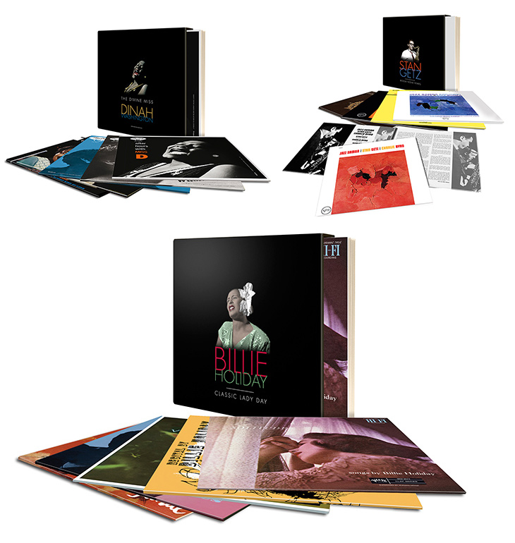 Verve Records Vinyl Box Sets Billie Holiday Dinah Washington Stan Getz