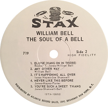 William Bell The Soul Of A Bell Record Label Side Two web 350